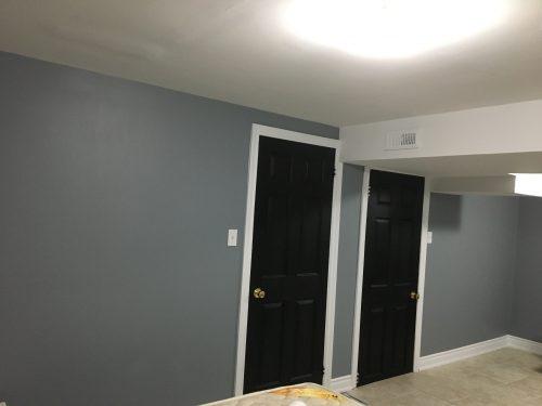 door White trim and black door