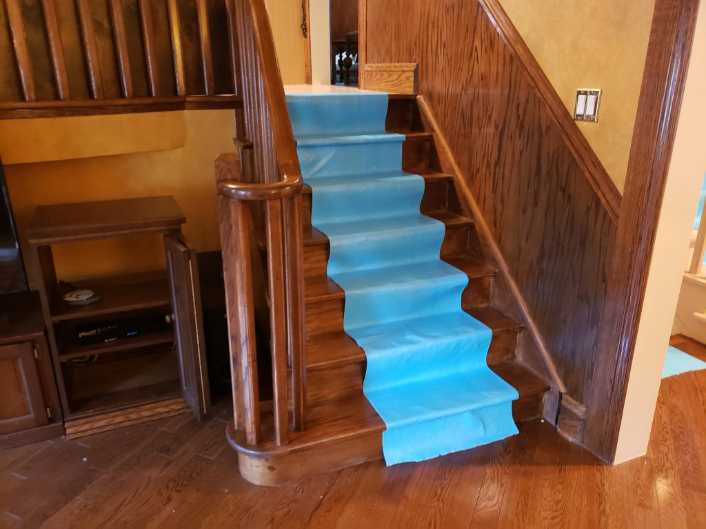 Protect floor house painting Mississauga